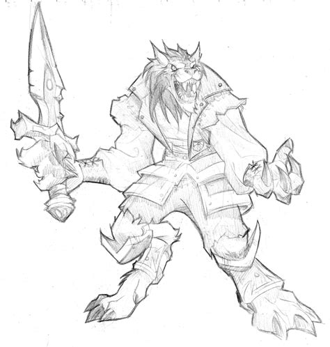 printable heroes wolf warcraft jeux vid 233 os coloriages 224 imprimer