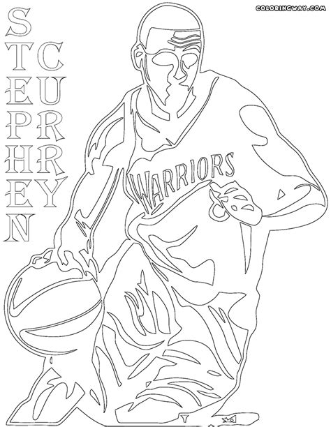 Free Curry Coloring Pages | curry sko coloring pages