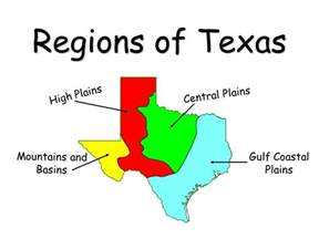 4 regions of texas map there are four physical regions of texas that you will need to ppt