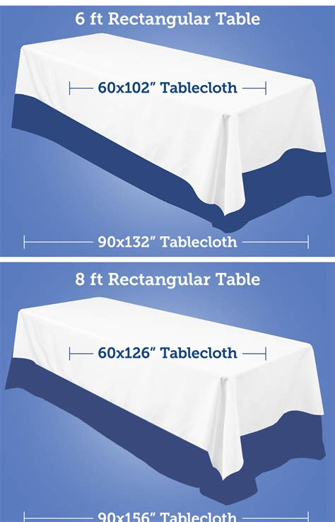 table size for 8 size of tablecloth for 8 rectangular table table