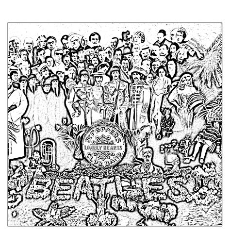 coloring book album artwork the beatles sgt peppers lonely hearts club band