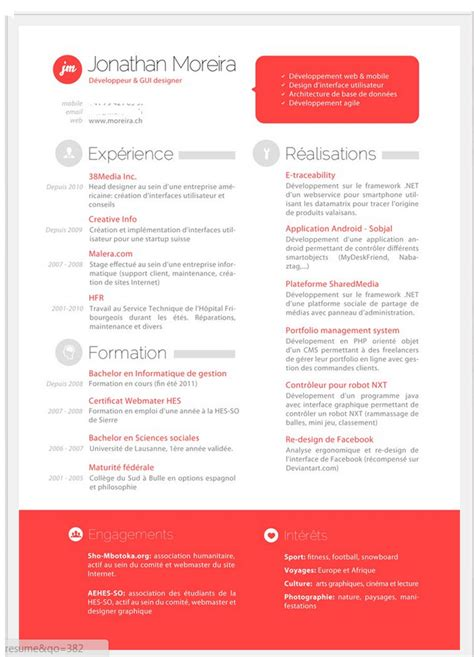 the two column resume option jenifer design