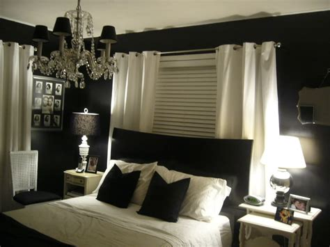 black painted walls decorating ideas for bedroom with white walls decoration
