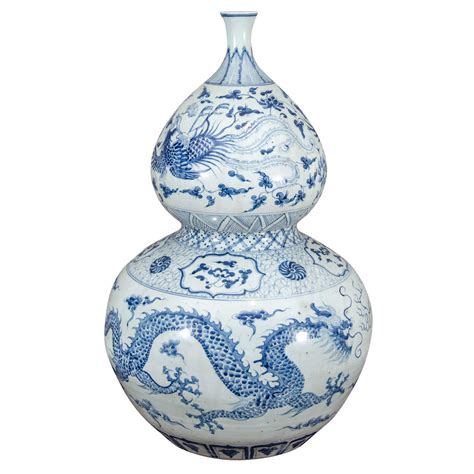 Large Blue And White Vases by Large Blue And White Porcelain Gourd