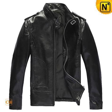 black leather jacket slim fit mens leather jacket cw809508 cwmalls