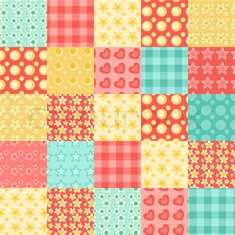 Patchwork Suppliers - seamless patchwork pattern 2 stock vector colourbox