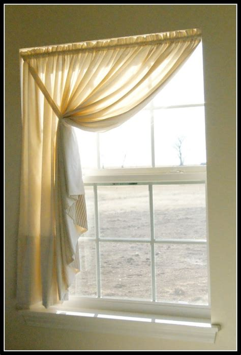 one sided drapes easy diy pattern tutorial for muslin swag curtain