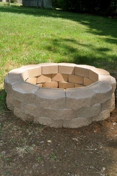 cinder block firepit how to build a pit with cinder blocks pit ideas