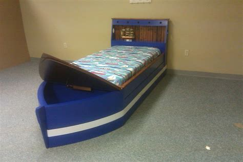 twin boat bed twin boat bed custom by chris davis lumberjocks com