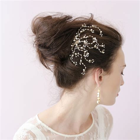Wedding Hair Accessories In Singapore by Dainty Spray Comb Bridal Hair Accessories Combs S