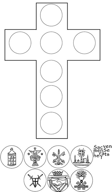 Seven Sacraments For Worksheets by Seven Sacraments Cross With Images Scribd Catholic