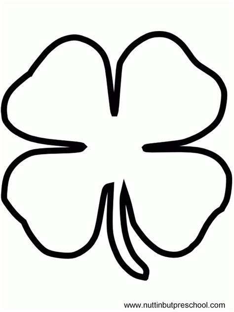coloring pages shamrock template free coloring pages of shamrocks coloring home