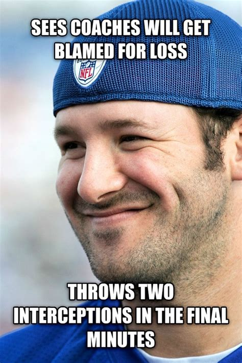 Tony Romo Interception Meme - good guy tony romo meme guy