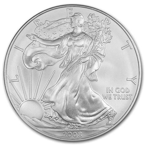 2008 Silver Eagles Uncirculated Coin For Sale Silver