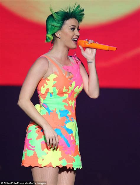 Katy Lights by Katy Perry Wows Fans In Multi Coloured Mini Dress On