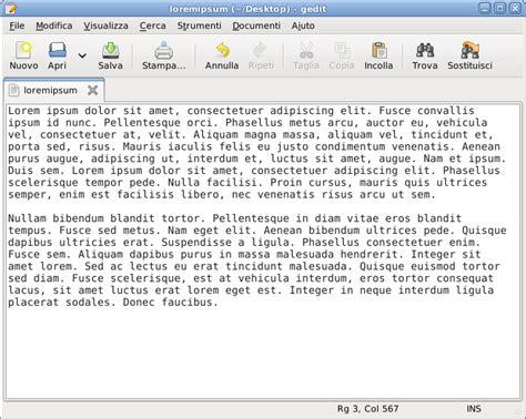 editor di testo editor di testo
