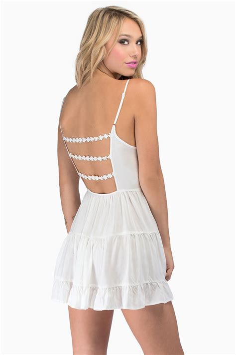 Spaghetti Pleated Dress white spaghetti backless pleated dress abaday