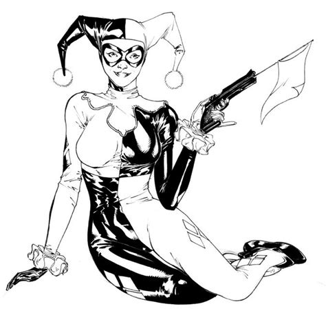 coloring pages harley quinn harley quinn black and white coloring page