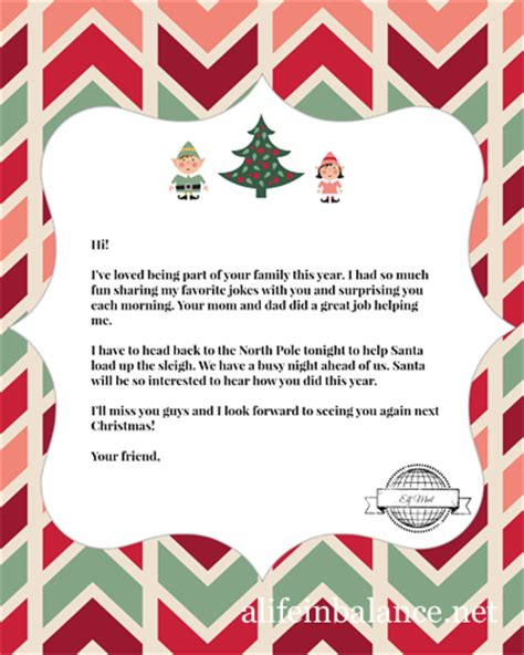 printable goodbye letter to elf on the shelf free printables elf on the shelf goodbye letter and