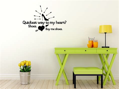 buy home decor buy me shoes wall decal saying for bedroom home decor