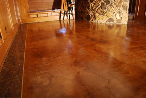 How To Stain Interior Concrete Floors by Faux Paint Ideas On Painted Concrete Floors