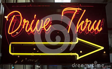 drive  neon sign stock photography image