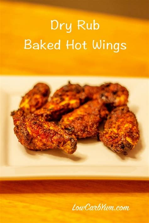 Golden Spicy Wing spicy rub chicken wings oven baked recipe low carb yum