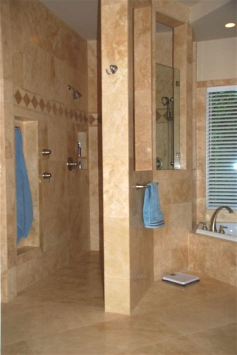 Master Bathroom Plans With Walk In Shower Master Bathroom Remodel With Walk In Shower Transitional Bathroom Other Metro By
