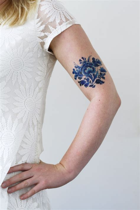 blue henna tattoo delft blue temporary tattoos by tattoorary