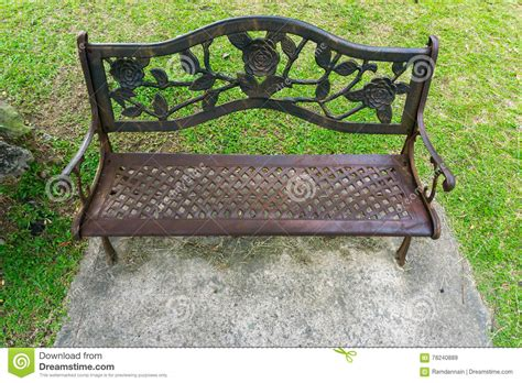 decorative park bench decorative park bench stock image image of lawn bench