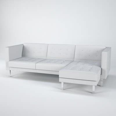 ikea karlstad leather sofa 3d ikea karlstad sofa chair model