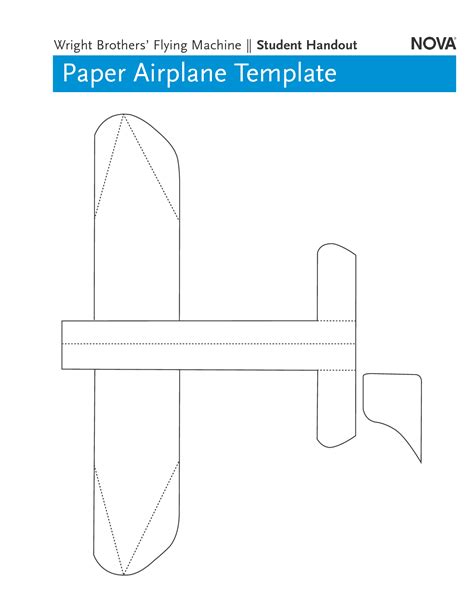 6 best images of printable paper airplane templates