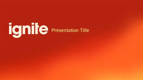 ignite keynote presentation template by furnace
