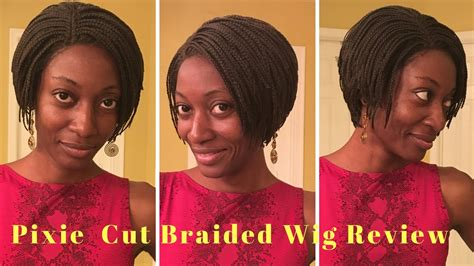 prixie braided wigs ihair braided pixie cut wig review youtube