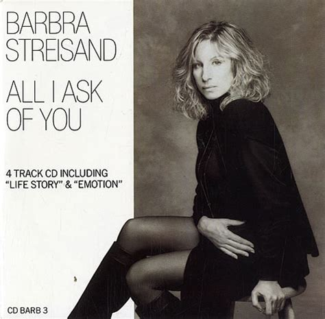 ask of you barbra streisand all i ask of you uk 5 quot cd single cdbarb3