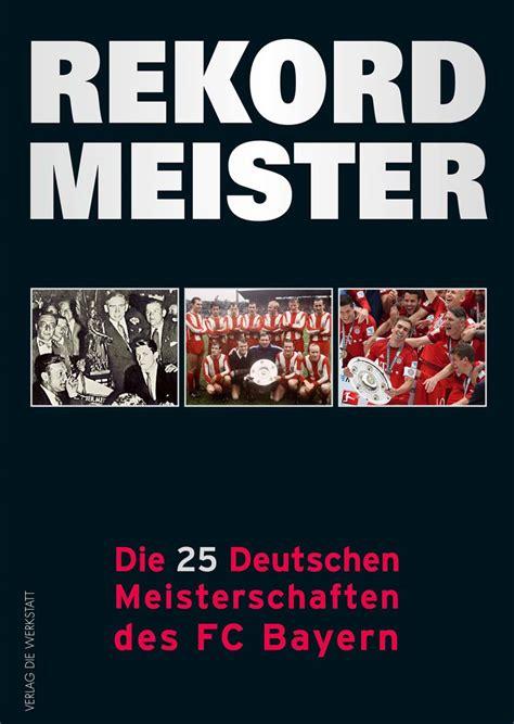 rekordmeister verlag die werkstatt - Verlag Werkstatt