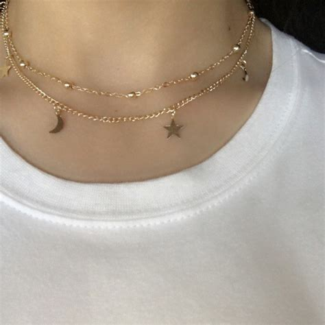 Necklace Layered Choker layered gold necklace bright and modern necklace inspiration