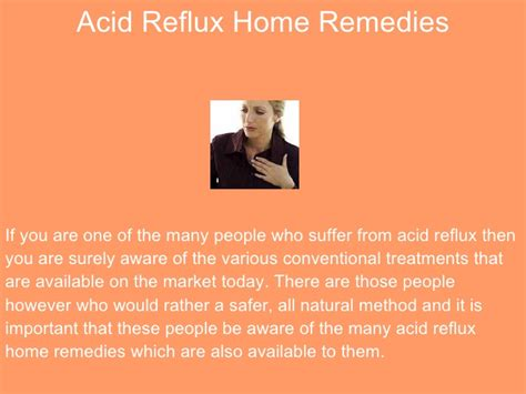 popular acid reflux home remedies