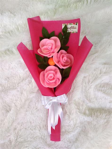 jual mini buket bunga flanel  lapak yc collections