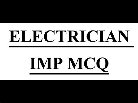 Iti Electrician Objective Type Questions Answers In Hindi