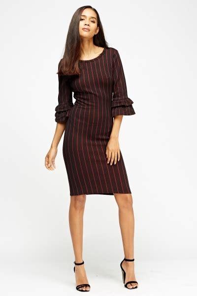 Finneah Stripes Flare Midi Dress flared sleeve midi stripe dress just 163 5