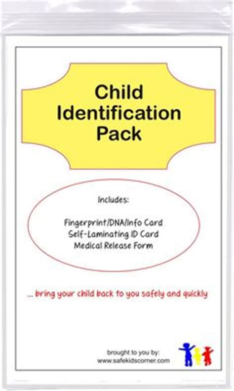 fingerprint id card template id card template id kits child id cards ink strips
