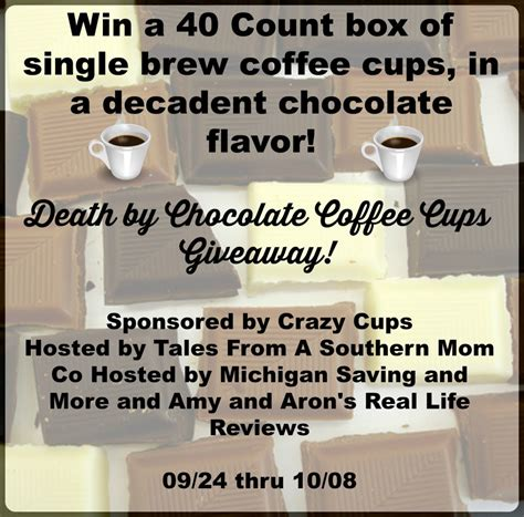 Death Sweepstake - death by chocolate coffee cups giveaway sweepstakes fanatics