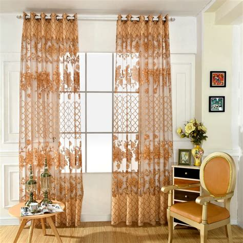 scarf valances for living room floarl printing tulle voile curtains for balcony living room sheer curtains for kitchen drape