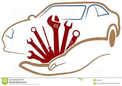Garage With Workshop Plans by Logo D Atelier D Automobile Illustration De Vecteur