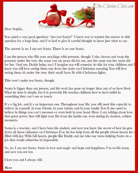 Santa Explanation Letter letters be real and chicken on