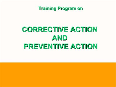 Capa A Five Step Plan corrective and preventive capa