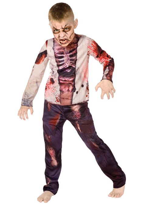undead halloween costumes scary zombie kid costume boys gory zombie costumes