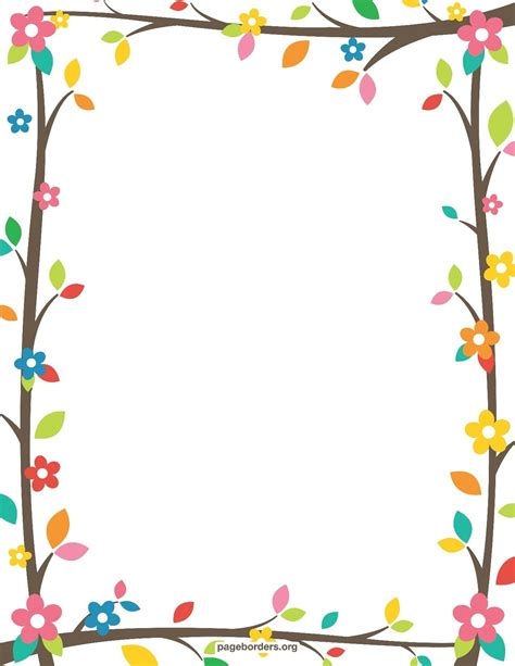 How To Make Paper Borders - free printable border designs for paper colored