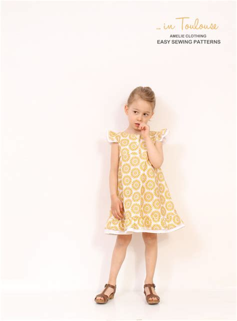 etsy pattern dress vintage girls a line dress pattern easy childrens sewing